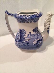 Blue Italian Coffee Maker : Spode Blue Italian Coffee Pot without lid ~new~ eBay