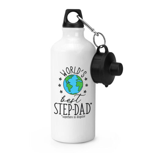 Funny Fathers Day Dad World/'s Best Stepdad Sports Drinks Bottle Camping Flask