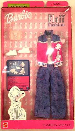 Mattel BARBIE Fashion Avenue Animation Styles Floff Poodle Set 2001 New In Box