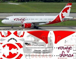 V1 Decals Airbus A319 Air Canada Rouge for 1/144 Revell Model Airplane Kit