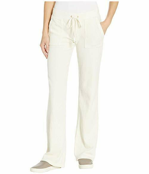 Juicy Couture Black Label Wtkb72771 Del Rey Velour Bootcut Pant With Pockets S Silver Lining For Sale Online Ebay