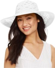 d375f87310c item 2 Nine West Semi-Sheer Woven Straw Packable Floppy Sun Hat - White