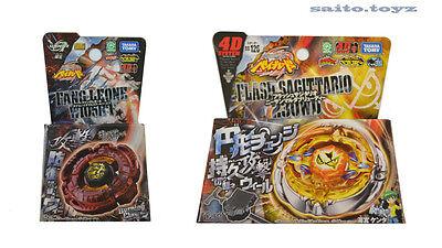 Takara Tomy Beyblade Fang Leone Burning Claw & BB-126 Flash Sagittario 230WD