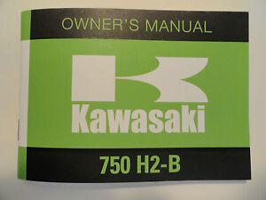 1974-Kawasaki-750-H2B-Rider-039-s-Handbook-Owner-039-s-Manual-H2-B-Riders-Owners-Shop
