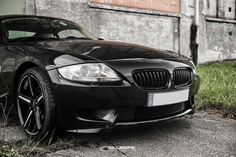 Black Glossy Kidney Set BMW Z4 E85 M Front Grill Grille Salberk 8502