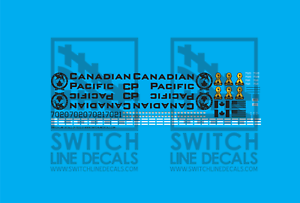 HO Scale Canadian Pacific 7020 7021 SD70ACU Decal Set
