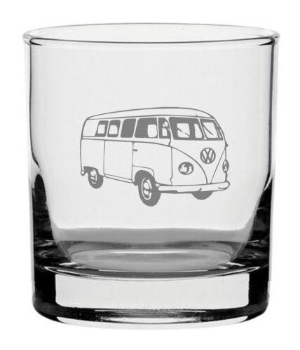 Traditional Whisky Glass With Volkswagen Camper Van Design