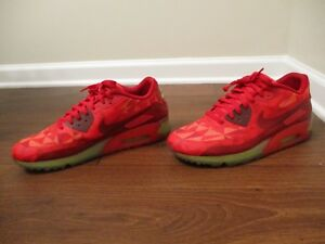 6313af9d47 Used Worn Size 12 Nike Air Max 90 Ice Shoes Gym Red, University Red ...