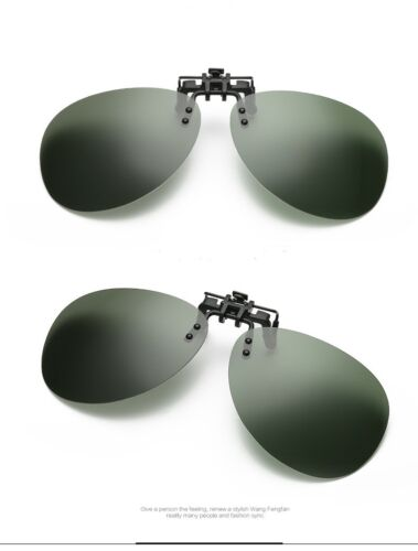 Clip on Flip Polarizadas Sunglasses para gafas graduadas Gafas de sol