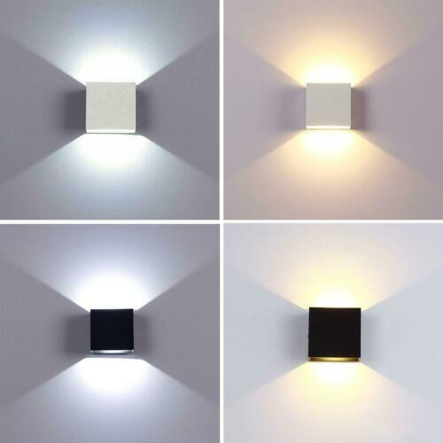 Modern LED Up Down Wall Lights Lighting Fixture Cube Sconce Lamps Indoor Outdoor