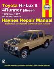 Toyota Hi-Lux & 4 Runner DSL Automotive Repair Manual: 79-97 by Haynes Manuals Inc (Paperback, 2011)