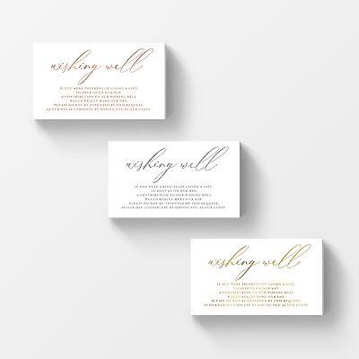 50 Wishing Well Cards Wedding Invitation Insert Ebay