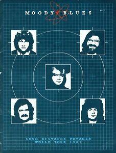 MOODY-BLUES-1981-LONG-DISTANCE-VOYAGER-TOUR-CONCERT-PROGRAM-BOOK-EXCELLENT
