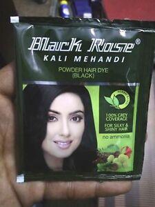 0b474640e 10 Sachets Black Rose Kali Mehandi Black Henna Herbal Hair 10 gms ...