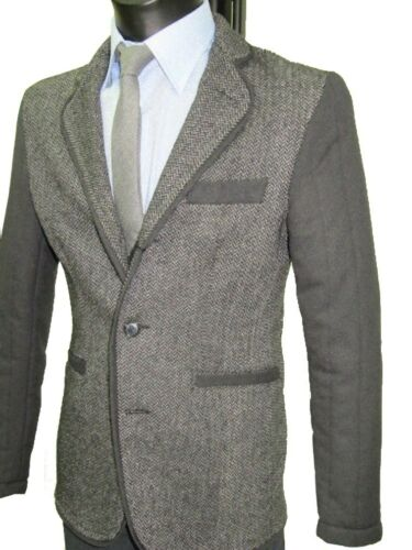 Italy Con Lana New Made Uomo Sartoriale Giubbotto Giacca Toppe Slim In Stretch v6FgpwRqn