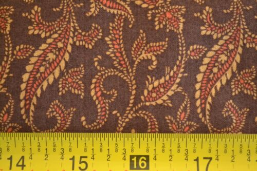 Tan /& Rust on Brown Quilting By 1//2 Yd M8598 Andover//Bridgeport//Morton//5601 N