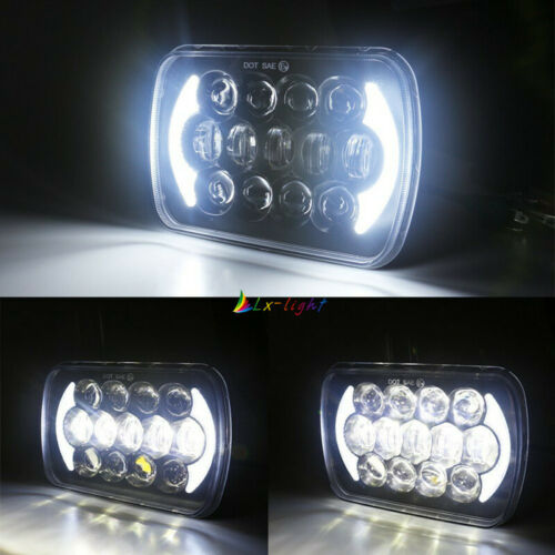 """Newest Brightest 105W 7X6/"""" 5X7/"""" LED Headlight DRL For Chevrolet Jeep Cherokee XJ"""