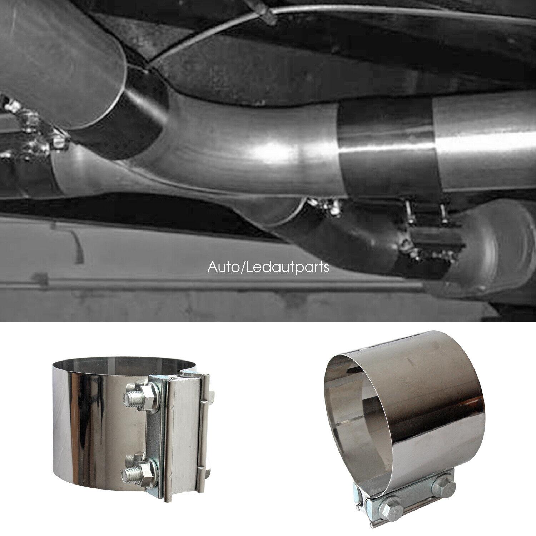 2pcs exhaust clamp 4 inch diameter butt