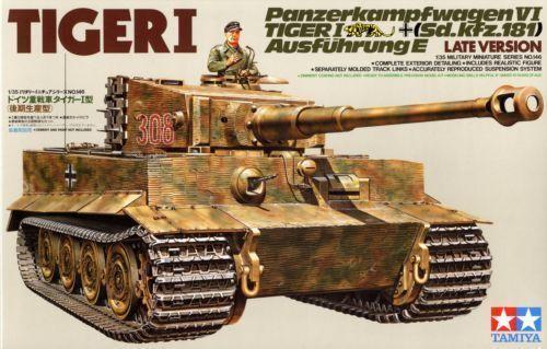 Tiger I Late Version - 1 35 Military Model Kit - Tamiya 35146