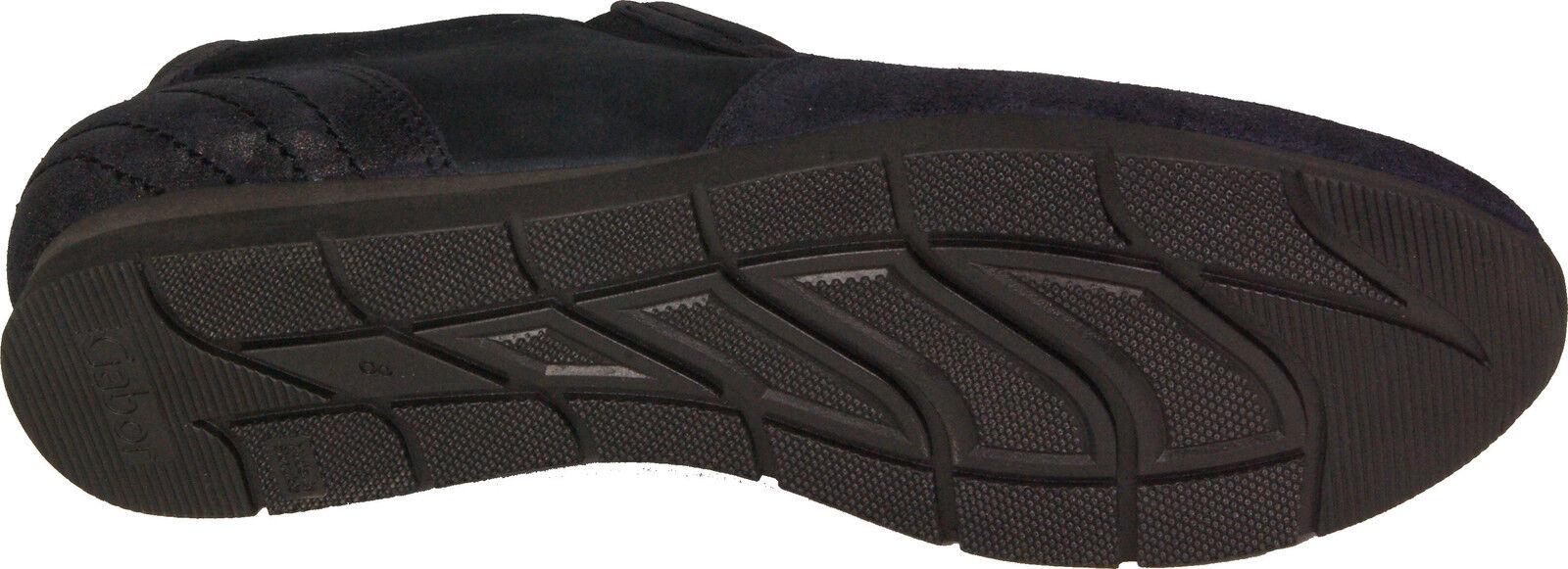 GABOR Schuhe Nubuk Slipper Sneaker Slip-Out`s blau Nubuk Schuhe Leder Wechselfußbett NEU e5ac31