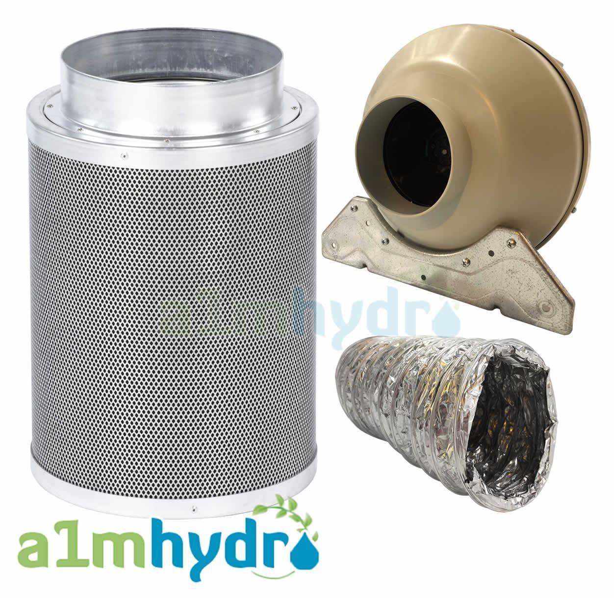 Rhino Hobby Kit De Filtro De Papel De Aluminio 5M de extracción de Ventilador RVK Aluminio Conductos Hydroponics