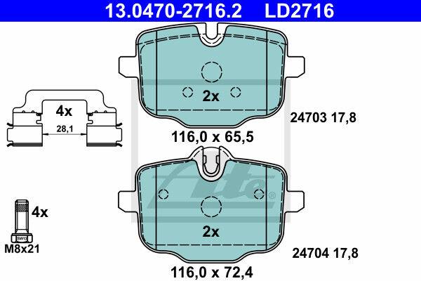 ATE 13.0470-2760.2 Bremsbelagsatz BMW 5er Touring F11