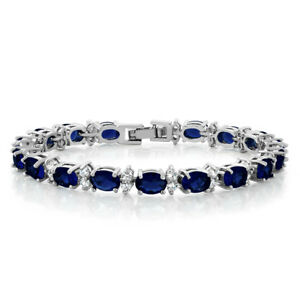"'20.00 Ct Oval & Round Blue Color Cubic Zirconias CZ Tennis Bracelet 7""' from the web at 'https://i.ebayimg.com/images/g/HwcAAOSwzXxaAe5e/s-l300.jpg'"