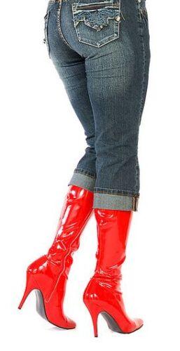 46 Mode Aux Glamour À Sexy Heel Rouges Zip 13 Bottes Genoux La à De 36 pa6vxRv