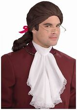 Colonial Wig Men's Brown 18th Century Style Ponytail Synthetic Hair Costume Wig