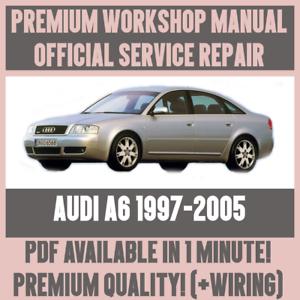 workshop manual service repair guide for audi a6 1997 2005 wiring rh ebay ie 2010 Audi A6 Repair Manual 2002 Audi A6 Quattro Manual