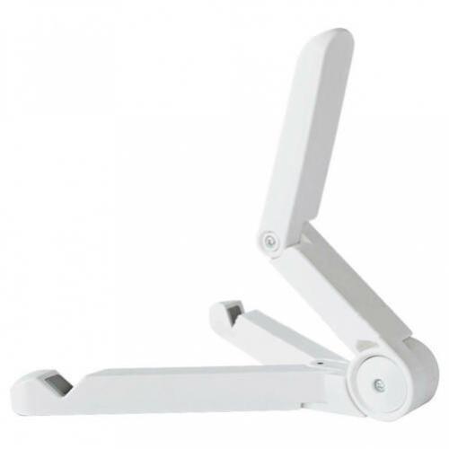 WHITE TABLET STAND DESKTOP FOLD-UP TRAVEL PORTABLE HOLDER DOCK J8W for TABLETS