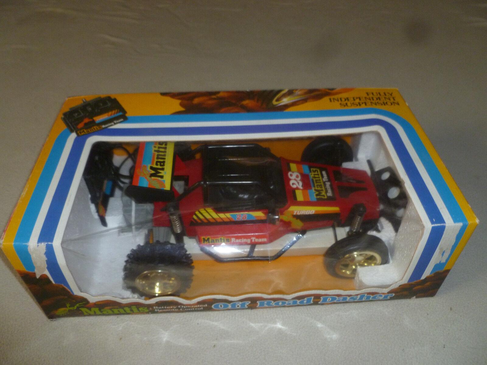 Mantis RC Coche Azul En Caja Juguetes Off Road Dasher Radio Control Vintage 1980S remoto