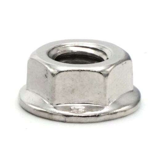 Flange Nuts Serrated Lock Nuts 18-8 Stainless Steel Flange Nut All Sizes /& QTYs