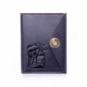 Elk-Black-Leather-Holder-Cover-Id-Passport-Document-Premium-Comfortable-Save