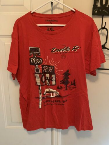 Twin Peaks Lootwear Exclusive T Shirt 2 XL Red TV