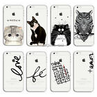 Ultra Slim Clear Pattern Soft TPU Gel Case Cover For Apple iPhone SE 5 6s 7 Plus