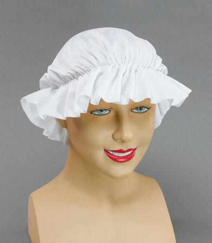 Victorian Fancy Dress Up Mop Cap Mob Tudor Hat Poor Girl Maid Apron Costume