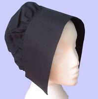 Ladies Tudor  Medieval Viictorian  Coif hat fancy dress costume black