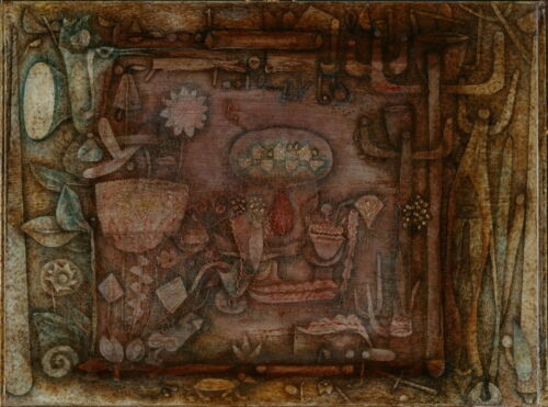 Paul Klee Botanical Theater Giclee Canvas Print Paintings Poster Reproduction Co