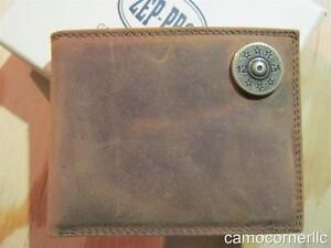 ZEP-PRO SHOTGUN SHELL Crazy Horse Leather LONG Roper WALLET Tin GIFT Box