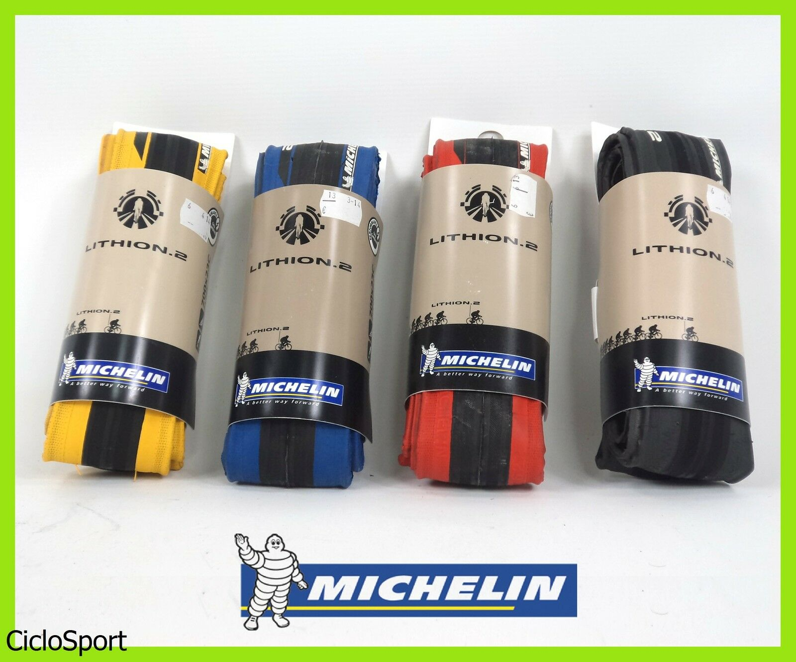 Michelin Lithion 2 tyre foldable 700x23C 23-622 - Choose Colour