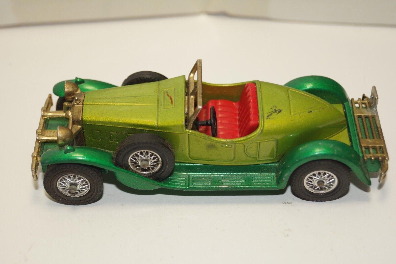 forniamo il meglio ORIGINAL Matchscatola Matchscatola Matchscatola - 1931 Stutz orsocat - modellos of Yesteryear - No Y-14 - verde  prezzi eccellenti