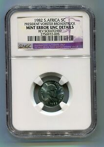 NGC-Certified-South-Africa-1982-President-Vorster-Broadstruck-Error-5c-Coin