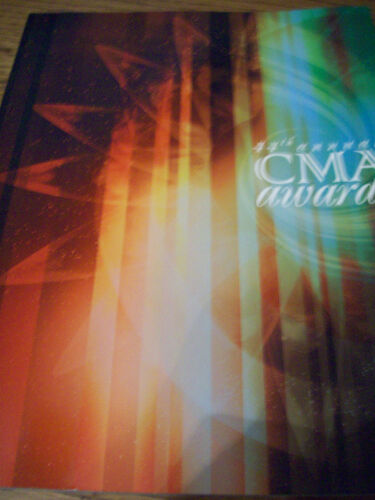 2010 CMA Program Book Carrie Underwood Brad Paisley Keith Urban Miranda Lambert