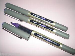 3x-Faber-Castell-Uniball-eye-fine-violett-148136-UB-157-Tinten-Kugelschreiber