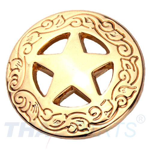 Concho #018 20mm Gold Western Stern Star Conchos Concha Conchas