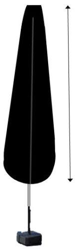 Housse de protection pour parasol 190cm gamme confort gris avec tige