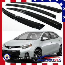 JDM MUGEN 3D STYLE SMOKED WINDOW VISOR VENT SHADE FOR 2014- 2017 TOYOTA COROLLA