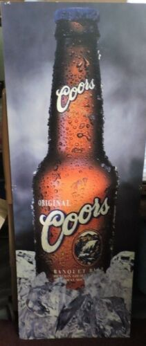 41.5x15 Double Sided Coors Beer Sign AdvertismentMan Cave