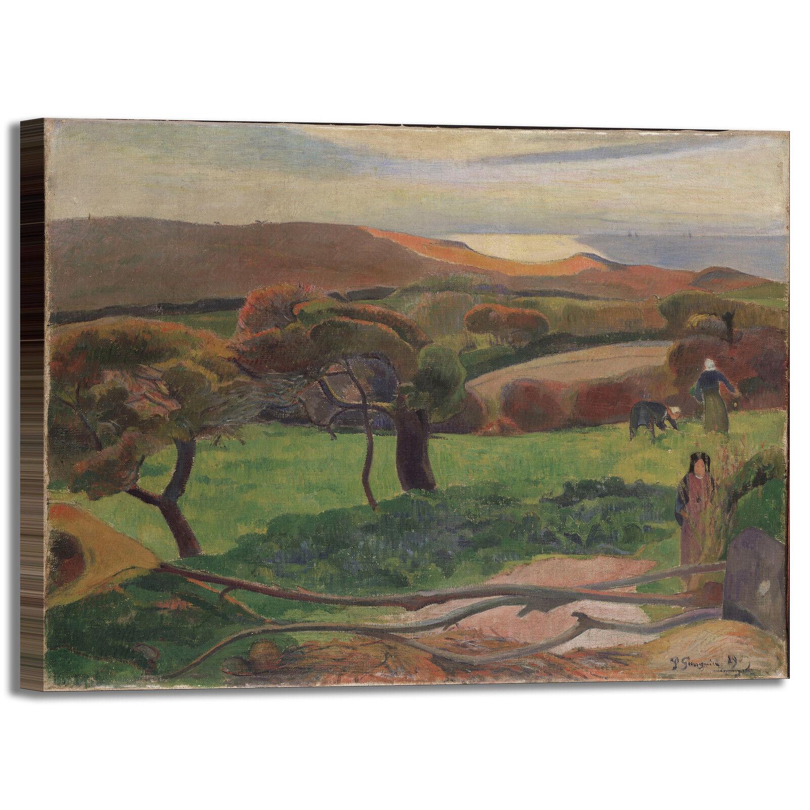 Gauguin paesaggio bretagna 2 quadro stampa tela dipinto telaio telaio dipinto arRouge o casa 3c9af7